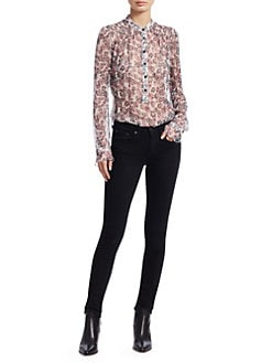 3e86a2b411744 Rag   Bone. Susan Silk Long-Sleeve Floral Blouse
