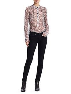 a3d84ccd564c50 Rag   Bone. Susan Silk Long-Sleeve Floral Blouse