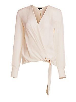 1c618a2694fd Rag & Bone - Felix Wrap Long-Sleeve Popover Blouse - saks.com