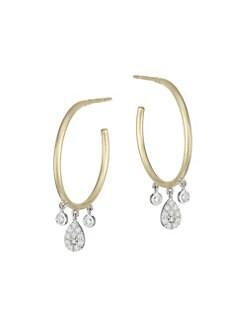 94bd89eef Earrings. Meira T - 14K Yellow Gold ...