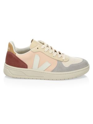 V 10 Recycled Mesh Leather Lace Up Sneakers by Veja