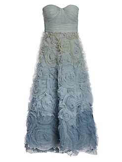 96b819222a7a4 QUICK VIEW. Marchesa Notte. Floral Ombré Fit-&-Flare Dress