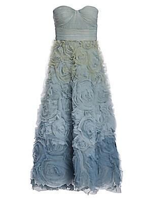 2fd024121e82 Marchesa Notte - Floral Ombré Fit- -Flare Dress