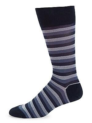 634de1ca374a5 Marcoliani. Multicolor Stripe Pique Crew Socks