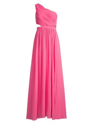 Bcbgmaxazria Tops One-Shoulder Cutout Gown