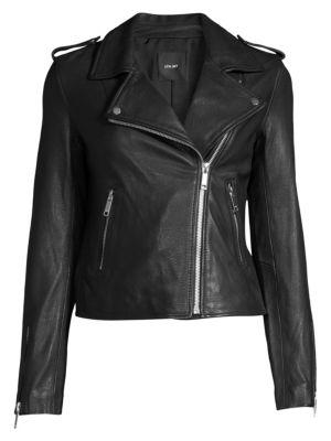 Kas Modern Leather Biker Jacket