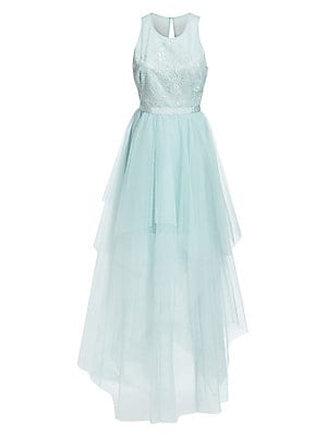 Tiered Crepe & Georgette Gown by Bcbgmaxazria