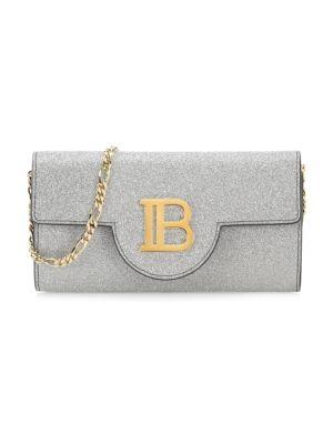 Balmain B Wallet Leather Convertible Shoulder Bag