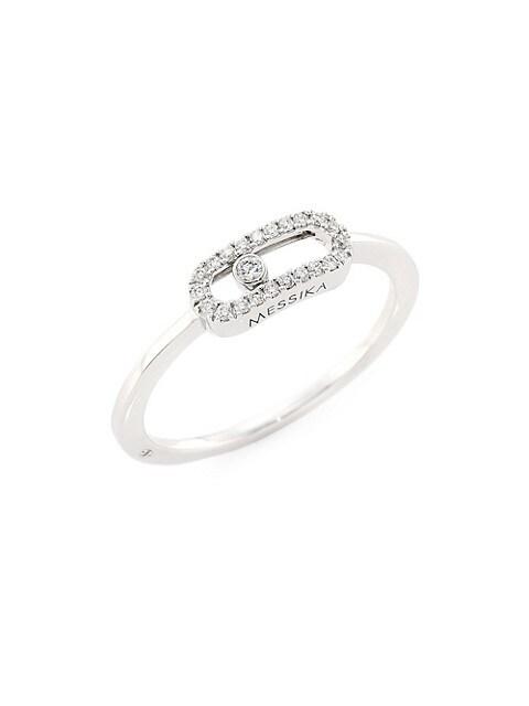 Move Uno 18K White Gold & Diamond Ring
