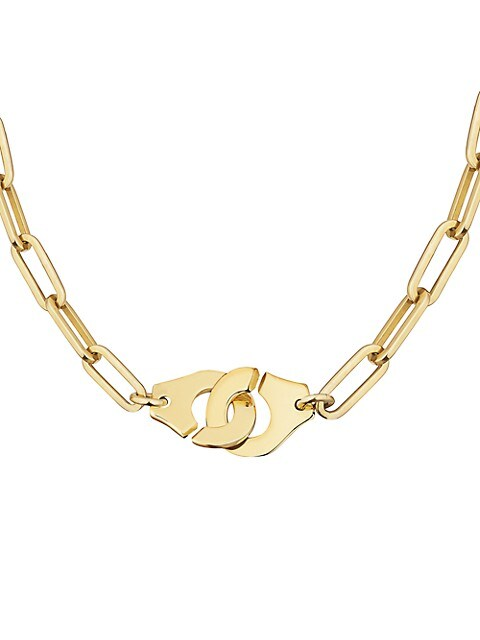 Menottes 18K Yellow Gold Chain Necklace
