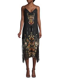 cb62e29023e2 Camilla. La Fleur Libertine Embellished Lace Silk Midi Slip Dress