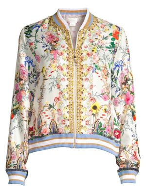 Camilla Jackets La Fleur Libertine Silk Bomber Jacket