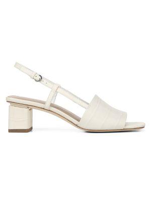 Via Spiga  Florian Leather Block Heel Sandals