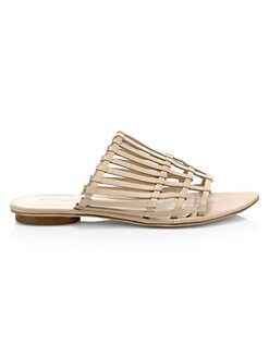 c994ae9570475f Slides   Mules. Cult Gaia - Zoe Leather Cage Sandals