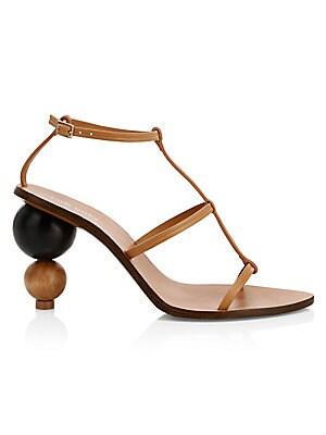 921486d81aa Cult Gaia - Eden Wooden Heel Leather Slingback Sandals - saks.com