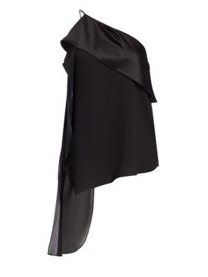 Halston Heritage Tops One-Shoulder Asymmetric Top