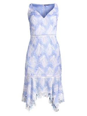 Elie Tahari Dresses Mariya Floral Crochet Dress