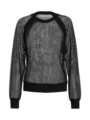 Blanc Noir T-shirts Irie Mesh Sweatshirt