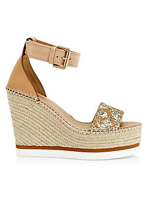 1193059d6ab8 See by Chloé - Glyn Denim Wedge Espadrille Sandals - saks.com