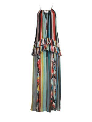 Caroline Constas Dresses Isla Stripe Maxi Dress