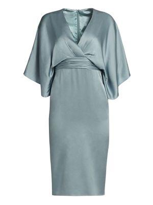Theia Dresses Kimono V-Neck Sheath Dress