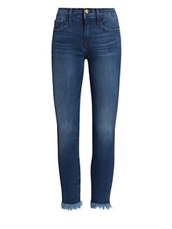 ad4d99d9f6452 Frame. Le Skinny De Jeanne Raw Hem Cropped Jeans