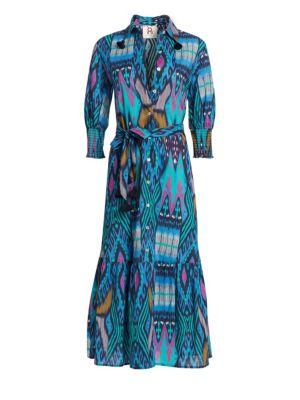 Figue Dresses Indiana Ikat Tassel-Trim Shirtdress