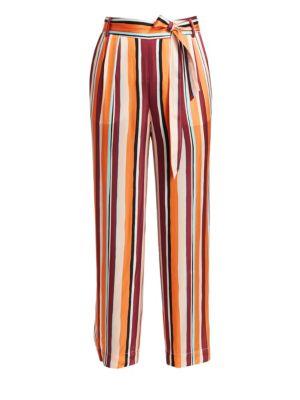 Frame Pants Cropped Clean Stripe Pants