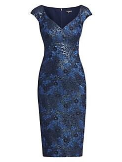 a8886129b83 Zac Posen. Sweetheart Lurex Jacquard Cocktail Dress