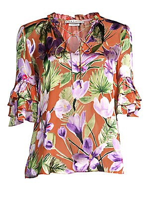 2d9f679a042a64 Alice + Olivia - Julius Tier-Sleeve Floral Tunic Top