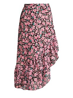 Product image. QUICK VIEW. The Kooples. Floral Ruffle Midi Skirt