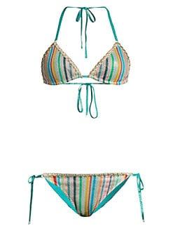 96ee48c8e3f71 QUICK VIEW. Missoni Mare. Two-Piece Rainbow String Bikini Set
