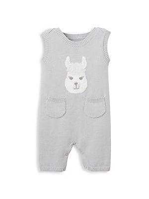 7521ff16290 Elegant Baby - Baby s Cotton Knit Llama Print Shortall