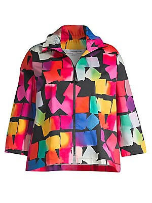 f8fed057a77 Caroline Rose - Spring Prints Charming Kaleidoscope Stretch Cotton Jacket