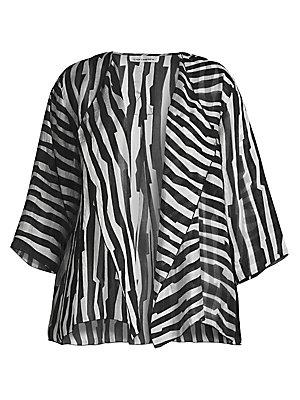 aded2b86eb3 Caroline Rose - Spring Prints Charming Line-Up Print Draped Jacket