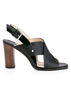 b448e93bc8f Product image. QUICK VIEW. Jimmy Choo. Aix Block Heel Crossover Leather  Sandals