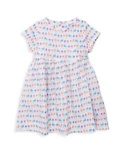 9f97b9659 Smiling Button - Little Girl's& Girl's Summerhouse Sunday Flare Dress
