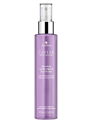 Image of WHAT IT IS From the Caviar Anti-Aging Collection. A lightweight mist that instantly adds shine while taming frizz and flyaways. For all hair types. No animal testing. Paraben-free. 5 oz. Made in USA. WHAT IT DOES Adds instant shine. Controls frizz. Tames