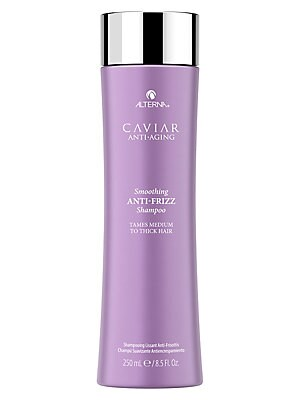 Image of WHAT IT IS From the Caviar Anti-Aging Collection. A frizz-controlling shampoo that gently cleanses while controlling the level of humidity in the hair. For medium to thick hair. No animal testing. Paraben-free. 8.5 oz. Made in USA. WHAT IT DOES Tames friz