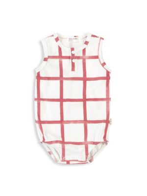 Miles Baby Baby Girl S Farmers Market Windowpane Bodysuit