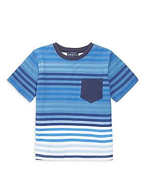 Image of A contrasting chest pocket adds interest to this stretch cotton T-shirt. Banded crewneck Short sleeves Pullover style Chest patch pocket Cotton/spandex Machine wash Imported. Children's Wear - Classic Children > Saks Fifth Avenue. Andy & Evan. Color: Blue