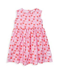 f018d7eb93459 QUICK VIEW. Smiling Button. Little Girl's & Girl's Pinny Pineapple Paradise  Flare Dress