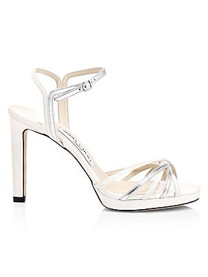 Lilah Metallic Leather Sandals by Jimmy Choo