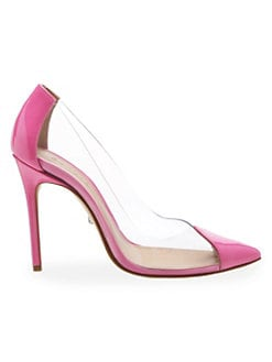 dde30289ab6 QUICK VIEW. Schutz. Cendi Transparent Point Toe Pumps