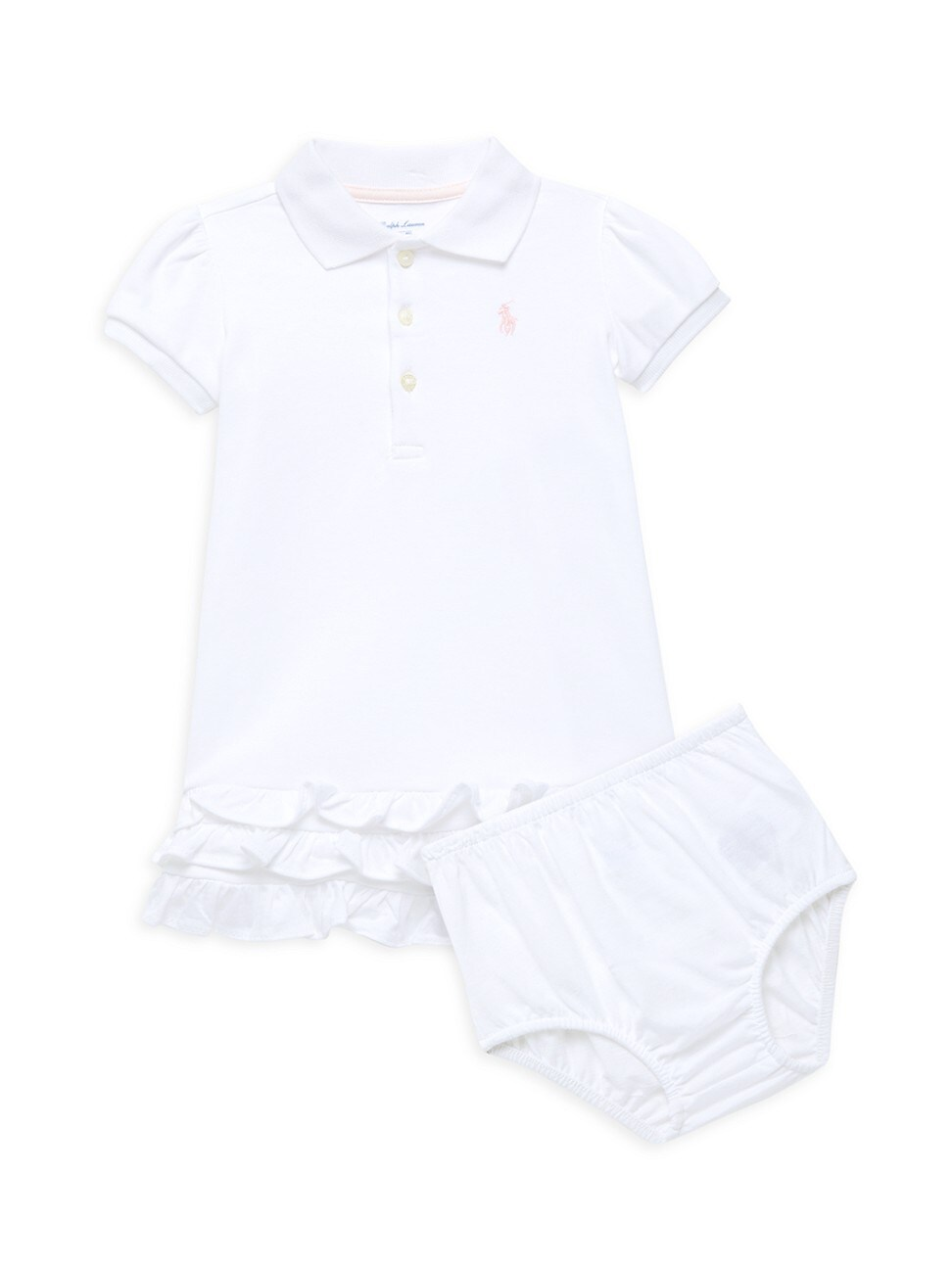 RALPH LAUREN BABY GIRL'S CUPCAKE POLO DRESS