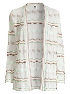 77ae2a5f1306 QUICK VIEW. M Missoni. Striped Chevon Knit Cardigan