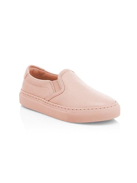 Little Girl's & Girl's Leather Slip-On Sneakers
