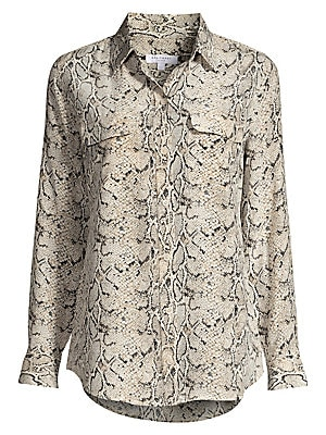 95807a7416016 Equipment - Python Print Silk Blouse - saks.com