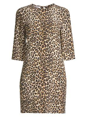 Equipment Dresses Aubrey Silk Animal Print Dress
