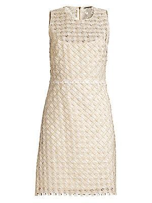 3b743a19a8c3 Elie Tahari - Rosaleen Embroidered Basket Weave Dress - saks.com